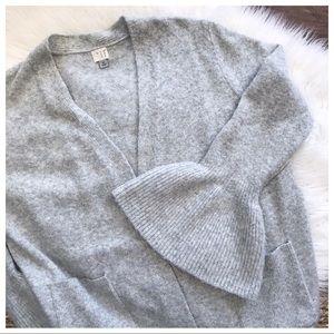Bell Sleeve Cardigan Sweater